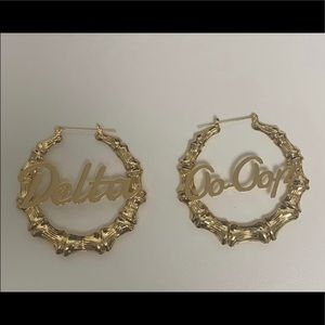 Bamboo Gold Earrings Delta Sigma Theta Sorority